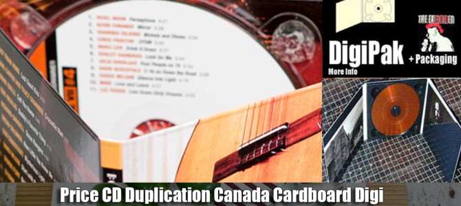 Price CD Duplication Canada Cardboard Digi