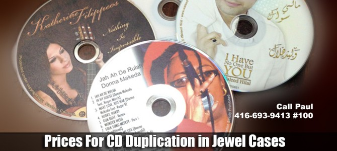 Price Duplication Canada Jewel case CD